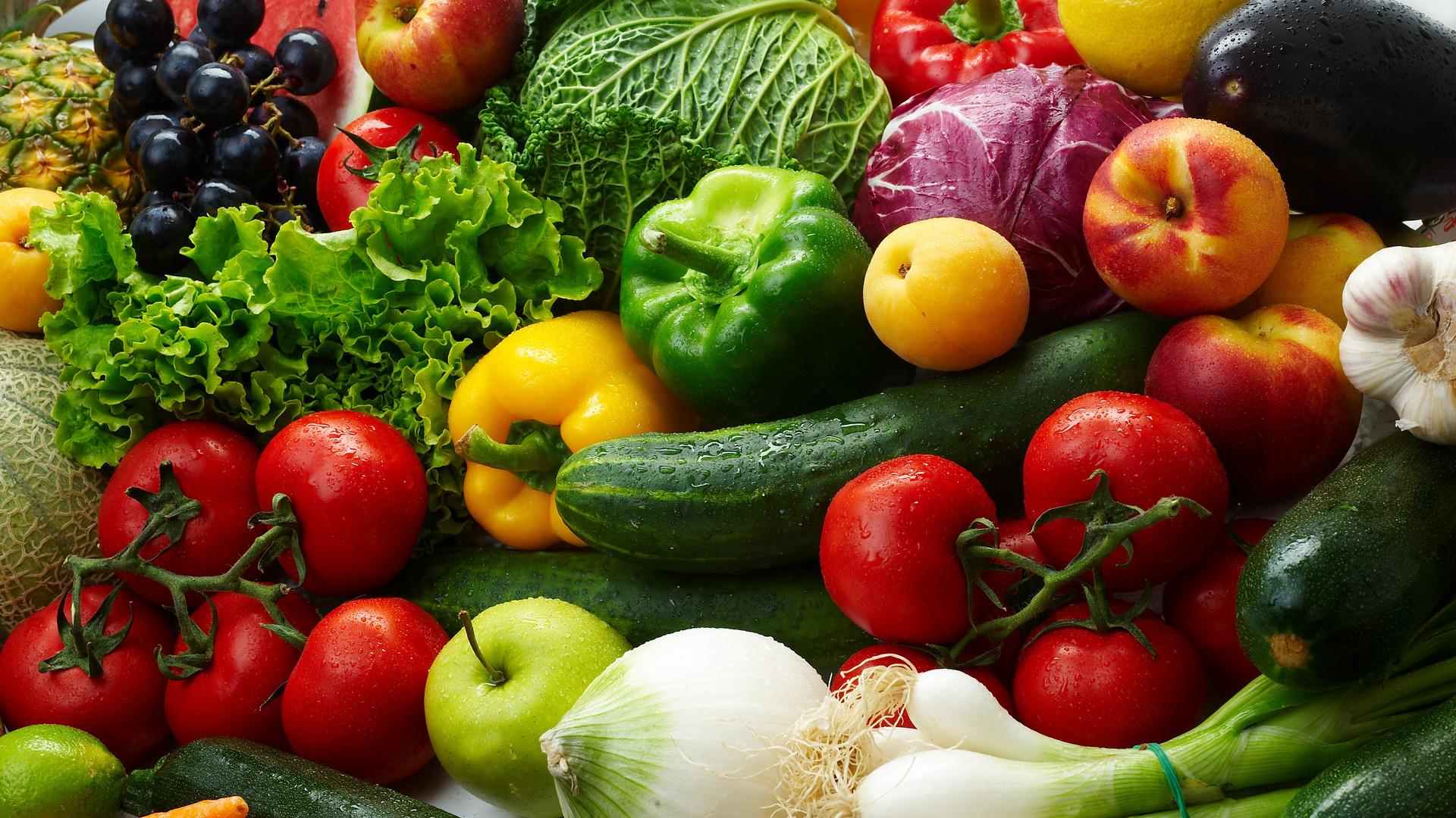зелень и фрукты овощи