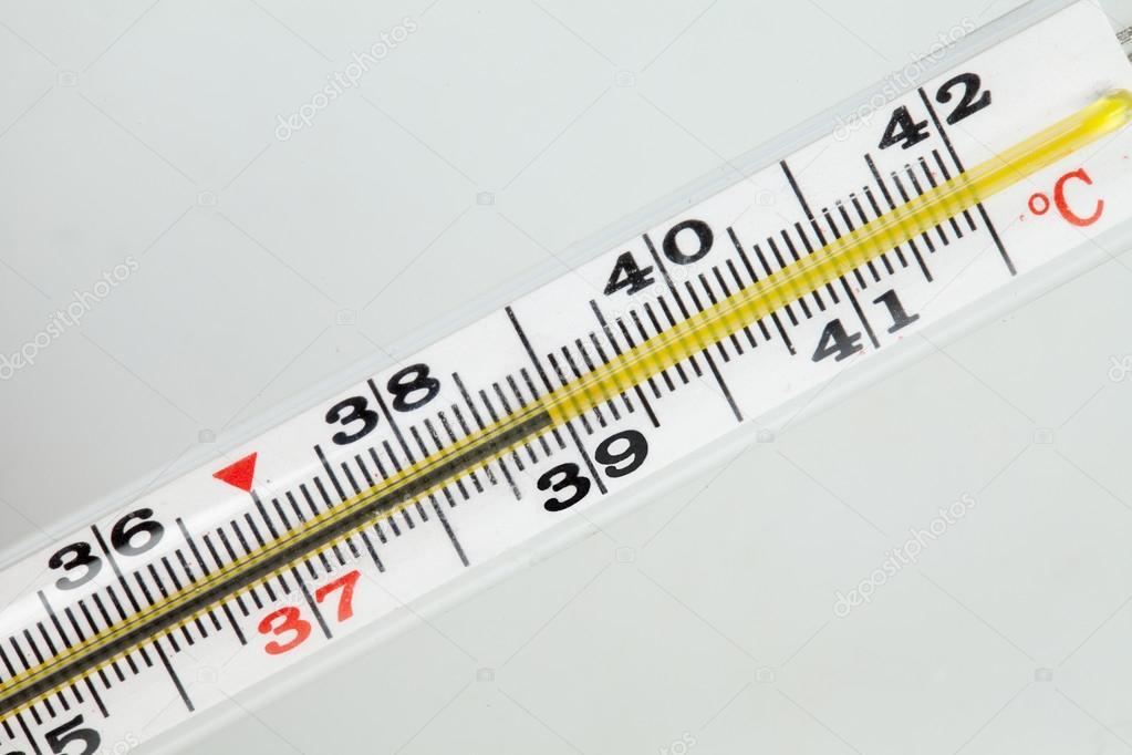 градусник и высокая температура