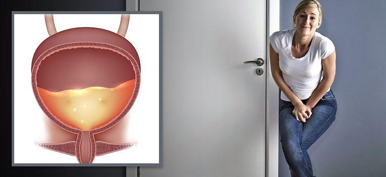 полный мочевой пузырь и девушка в туалете