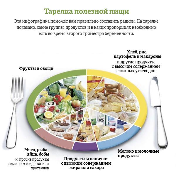 тарелка полезной пищи