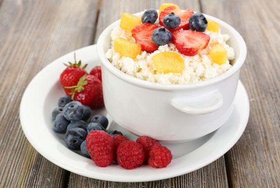 фрукты и творог