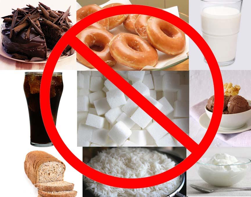 запрет на выпечку и сладости