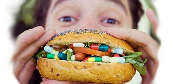 бургер с таблетками