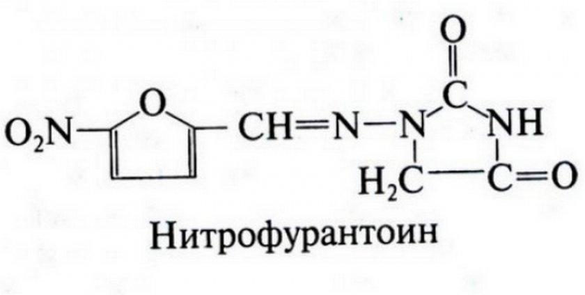 Нитрофурантоин формула